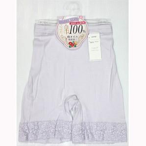 【豊富なサイズ展開☆年間売れ筋】婦人 インド綿100% 椿オイル保湿加工 3分丈ボトム