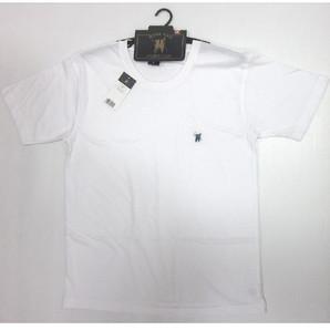 【ROYAL POLO】紳士 胸刺繍入り 天竺 半袖丸首Tシャツ